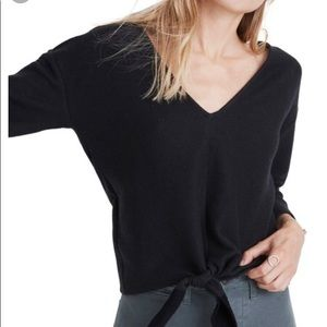 Madewell Long-Sleeve Tie-Front Top